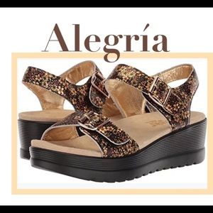 Alegria Morgyn Sandal Floral Strappy Leather Shoe